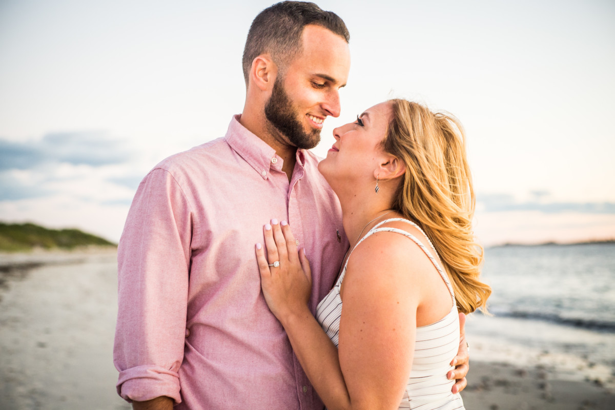 Christina and Justin | Sakonnet Point Engagement | Blueflash Photography