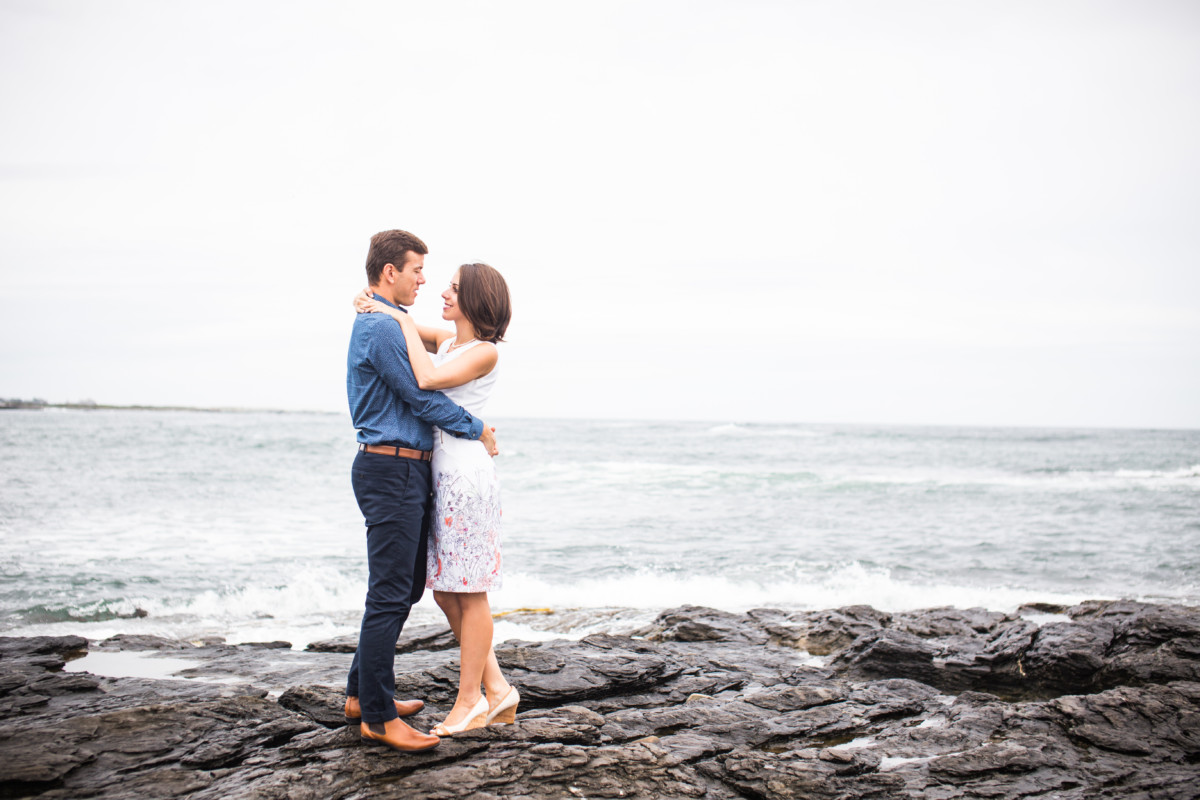 Chrysanthi and Marios | Cliffwalk Newport Engagement Session | Blueflash Photography