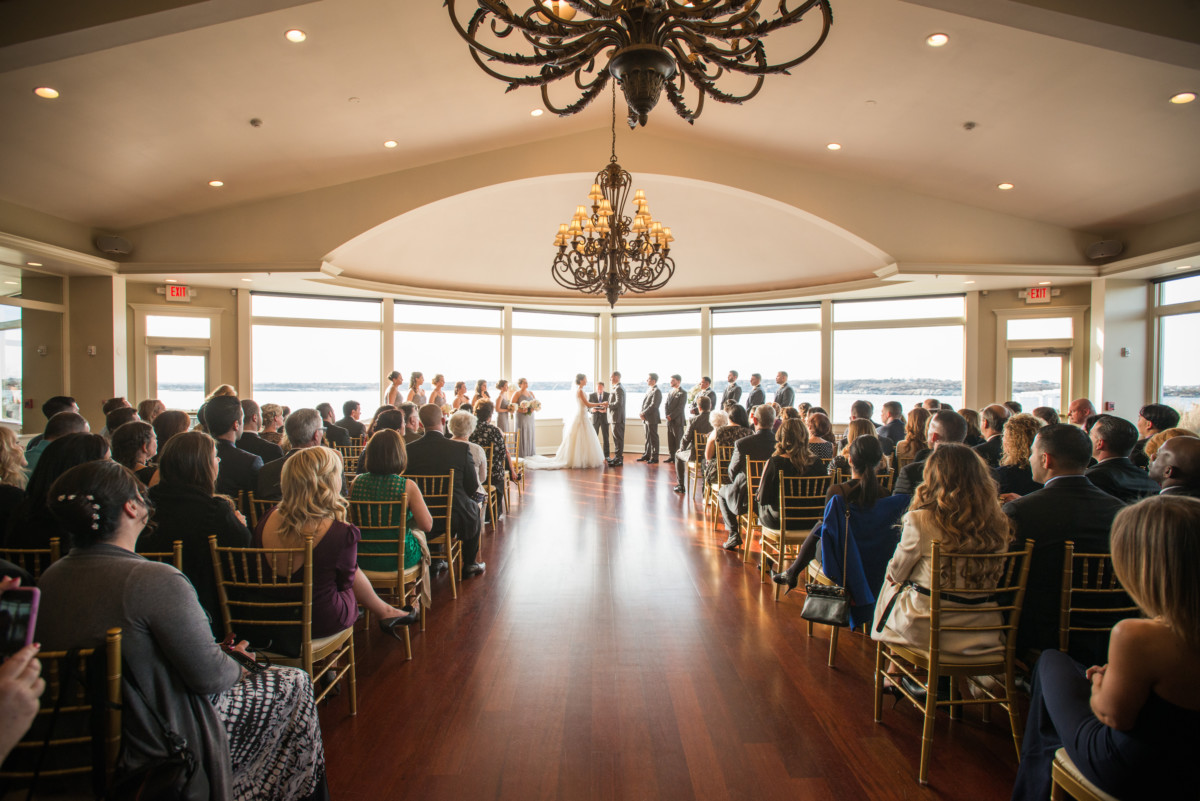 Wedding at OceanCliff | Wedding ceremony in the Grand Ballroom