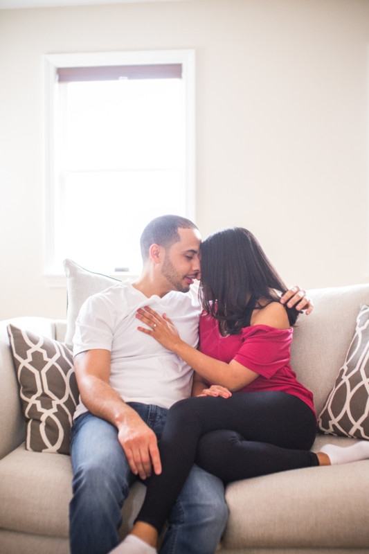 Erica and Tyrone | Engagement Session at Home | Blueflash Photography