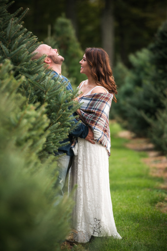 Jennifer and Robert | Christmas Tree Farm Engagement Session | Blueflash Photograph