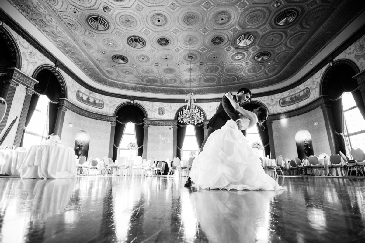 Lauren and Jimmy | Wedding at the Providence Biltmore | Dancing in the Grand Ballroom