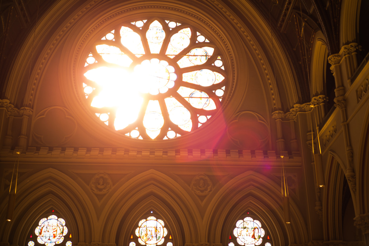 Providence Biltmore Wedding  | The Cathedral - stained glass detail
