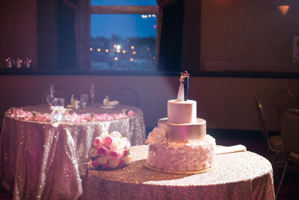 Providence Biltmore Wedding | Wedding cake detail