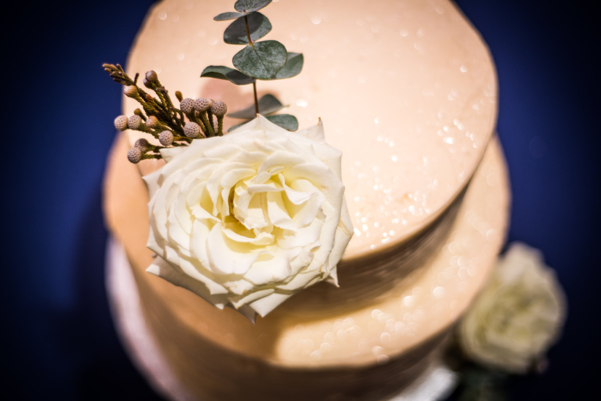 Providence Art Club Wedding - Cake and Flower Detail